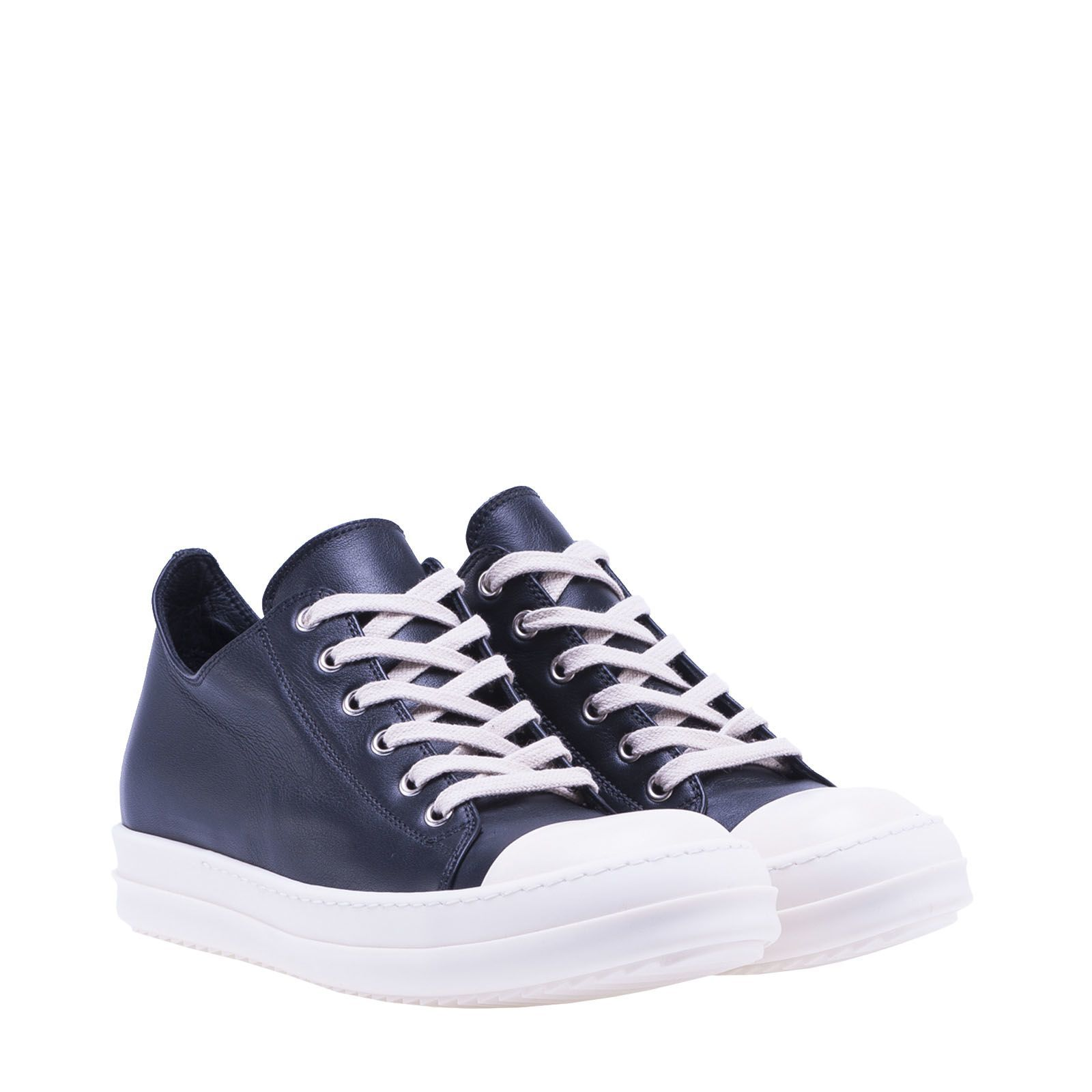 exclusieve Rick Owens Rick Owens Lace-up Sneakers (zwart/wit)