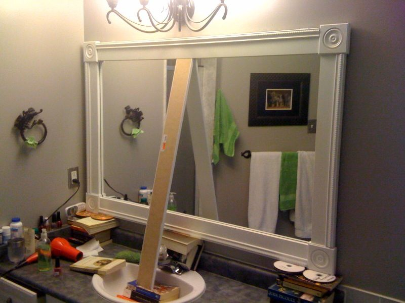 Image Detail For DIY Bathroom Mirror Frame Project