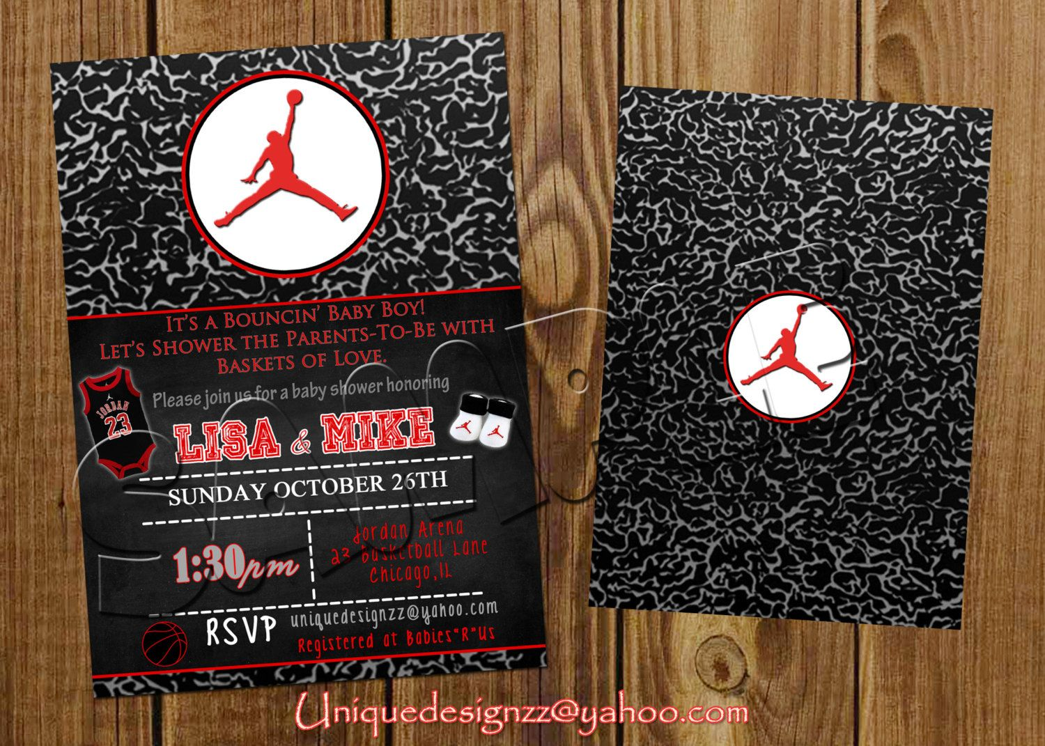 Invitaci n Baby Pinterest – Michael Jordan Birthday Card