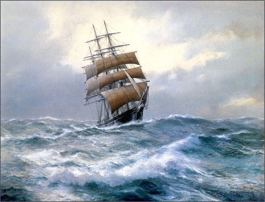 High Seas, Tea-clipper Leander (Derek Gardner)
