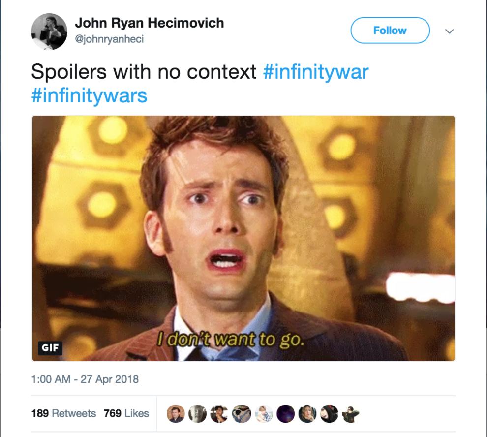 17 Devastating Avengers Infinity War Spoilers Presented With Zero Context Avengers Marvel Memes Marvel Movies