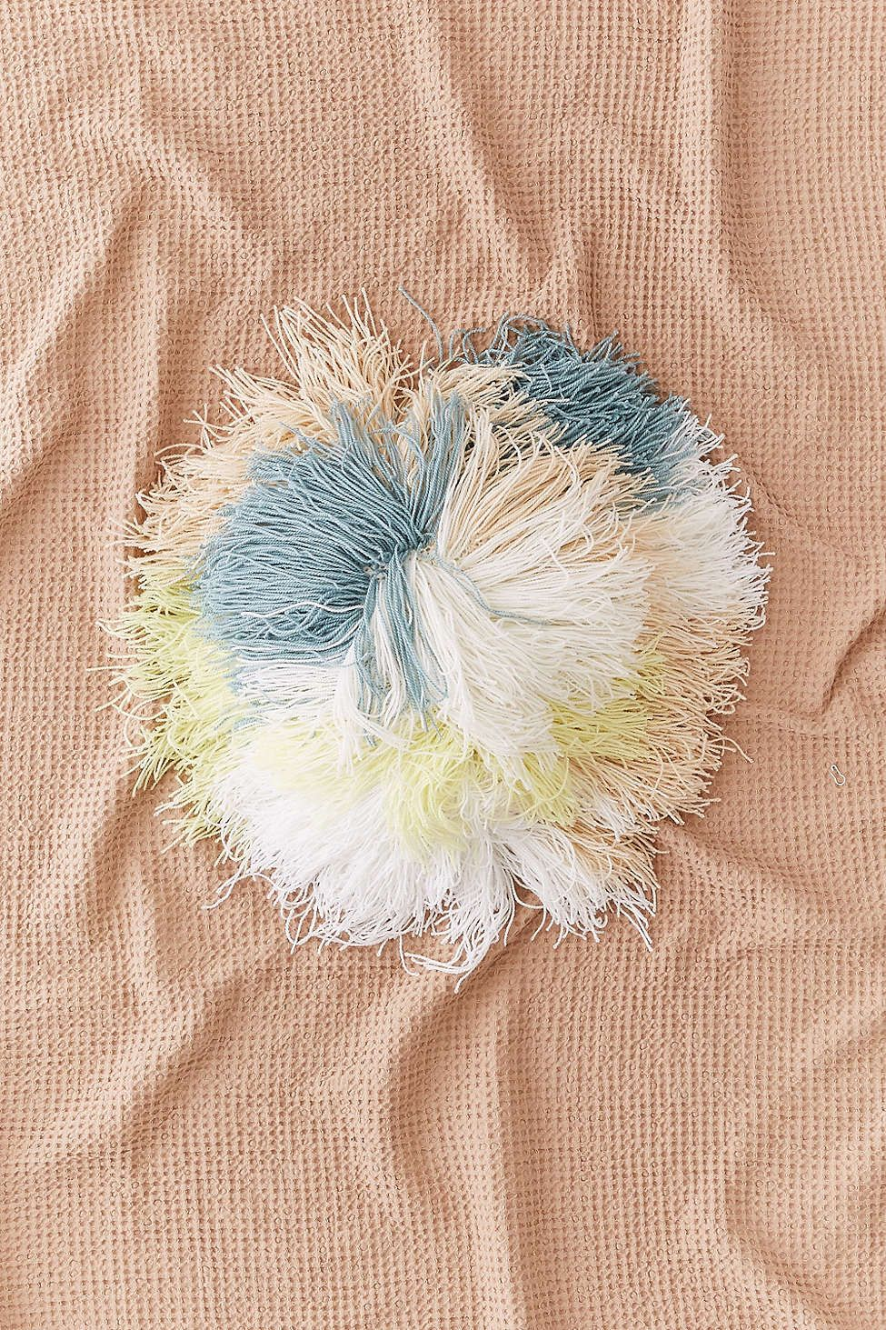 Round shaggy pastel pillow home details pinterest shaggy and