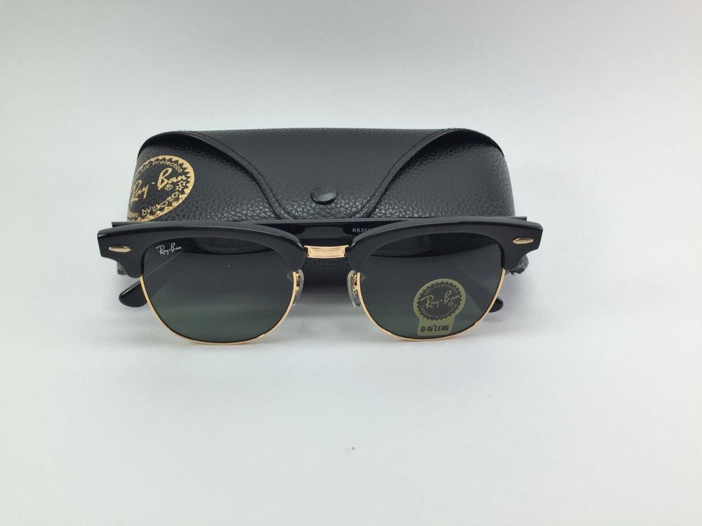 55d11c28d34fb BIN AUTHENTIC NEW RAY BAN RB 3016 W0365 CLUBMASTER BLACK 51MM LENS  fashion   clothing  shoes  accessories  unisexclothingshoesaccs  unisexaccessories ( ebay ...