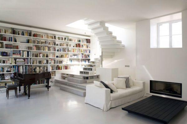 10 Most Amazing Loft Designs We Love - bibliotecas modernas en casa
