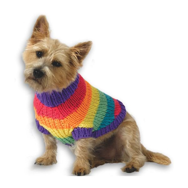 Rainbow Dog Sweater Liked On Polyvore Featuring Dogs And Pets