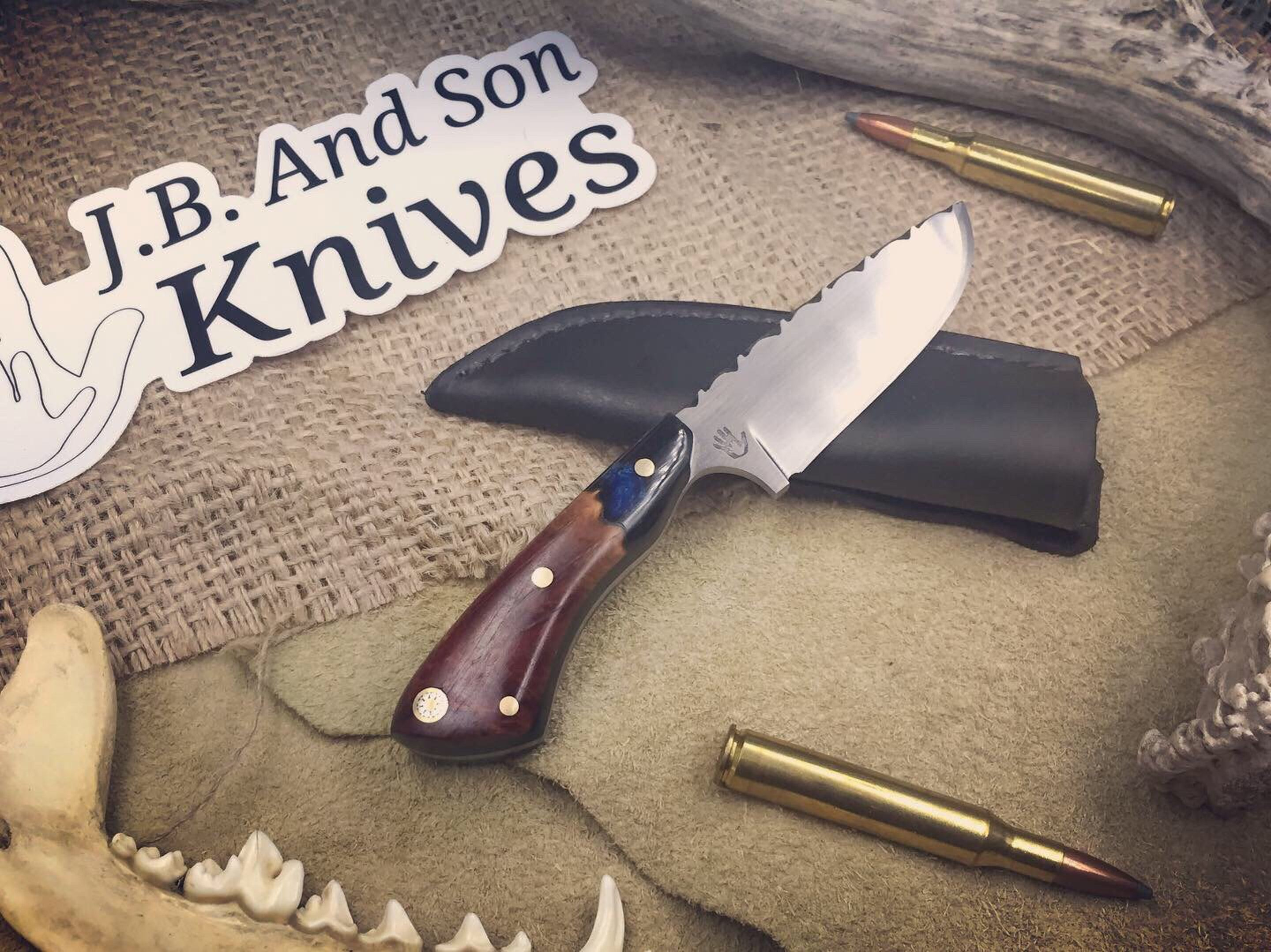 J B And Son Knives Hand Forged Mini Camper Leather Sheath Knife Mini Camper