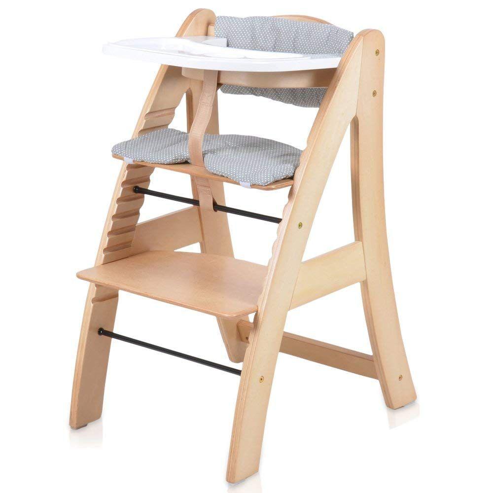 Baby Kinder Hochstuhl Kinderstuhl Babystuhl Holz Holzstuhl Treppenhochstuhl Stuhl Extra Tablett Weiss Oder Natur Buche Ama Deco Interieure Chaise Haute Deco