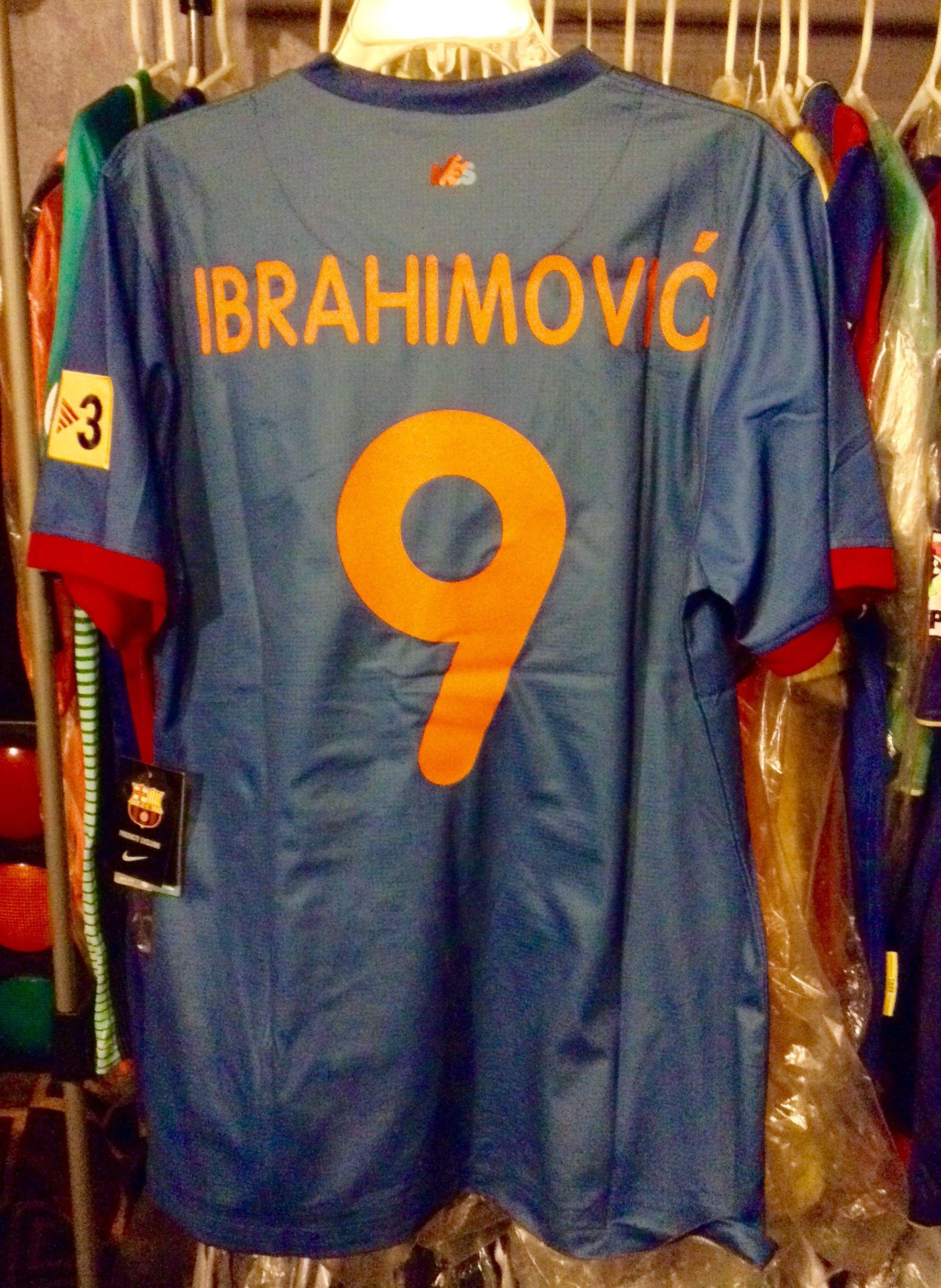 the latest c97b6 53dcb Zlatan Ibrahimovic Barcelona - Gamper 2009 | Soccer Jerseys ...