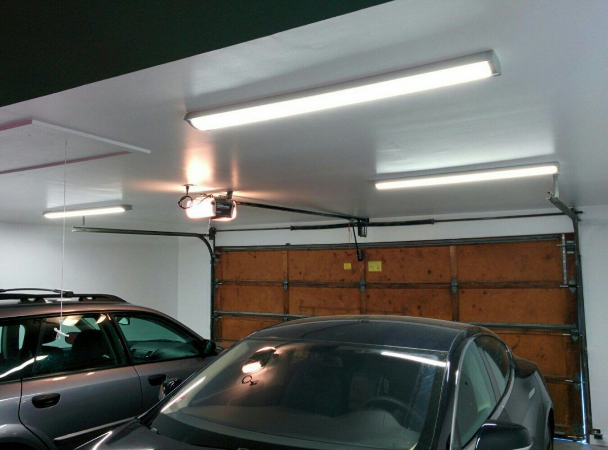 Choose Your Garage Lighting Ideas Led Garage Lights Garage Lighting Garage Design