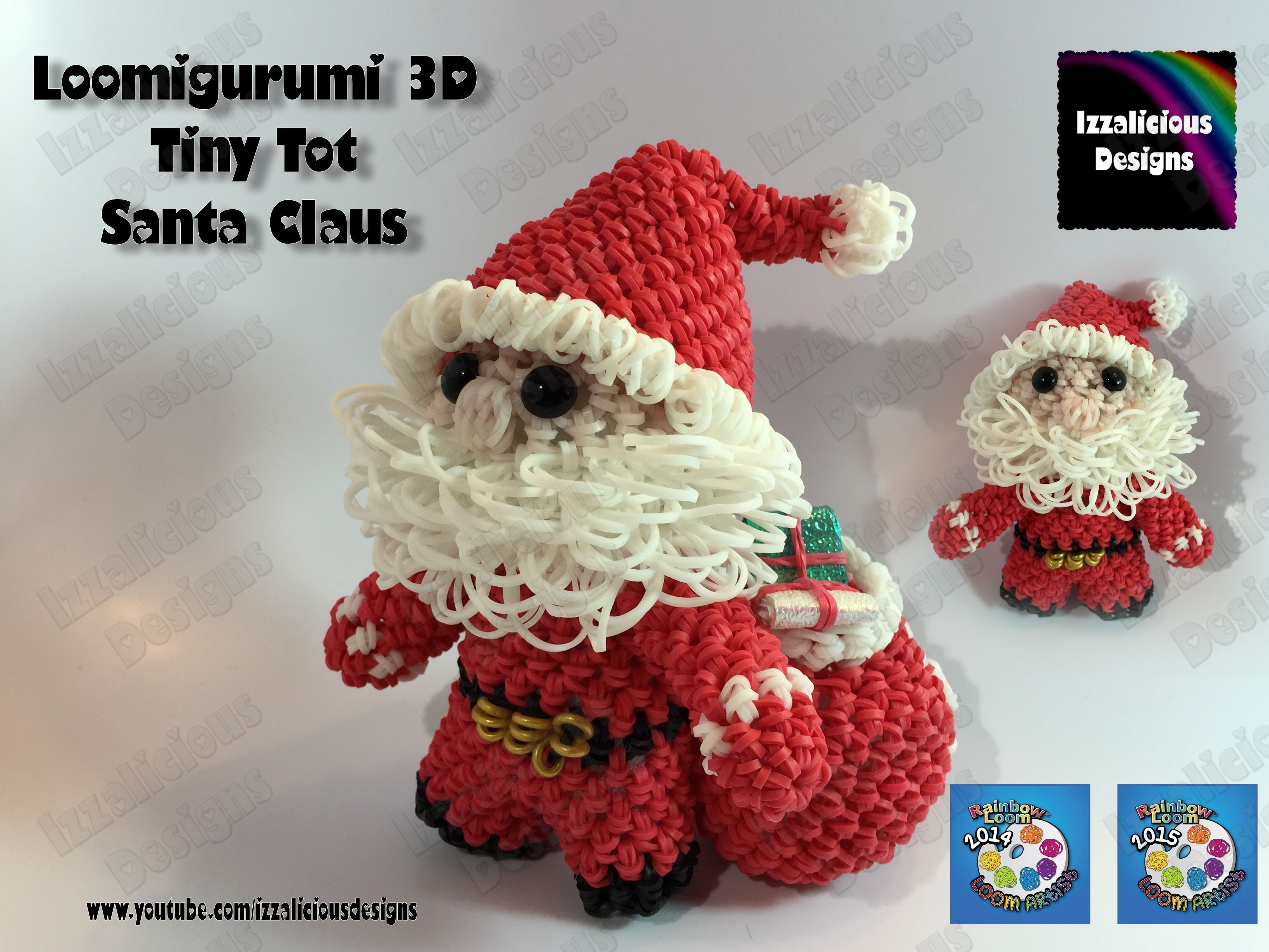 Amigurumi Loom Patterns : Loomigurumi santa tiny tot christmas figure pt 2 amigurumi w