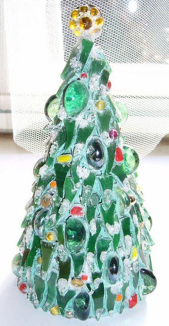 Mosaic Christmas Tree Christmas Mosaics Unusual Christmas Trees Mosaic Crafts