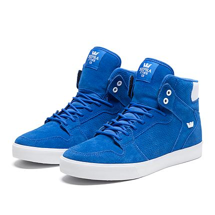 SUPRA VAIDER ROYAL BLUE SUEDE AND PERFORATED SUEDE. ALL MENS SIZES @SNEAKUP  STORE #
