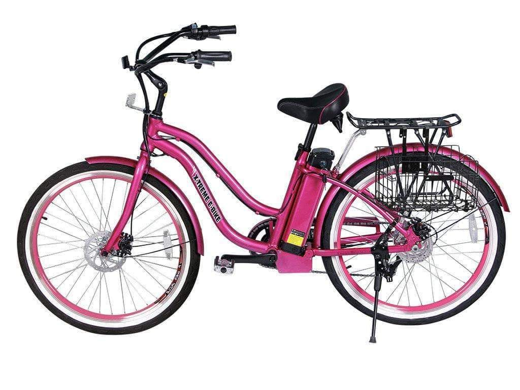 X Treme Malibu Elite Max 36v Step Through Beach Cruiser Ebike In 2020 Beach Cruiser Electric Bike Beach Cruiser Cruiser Bike