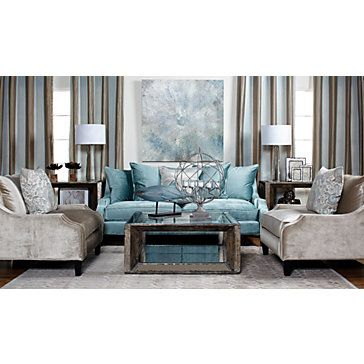 Brighton Sofa   Aquamarine | Sofas | Living Room | Furniture | Z Gallerie