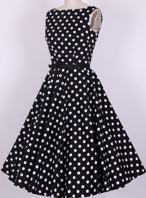 db6c73c45b5 rockabilly pin up vintage dresses retro Audrey dress knee length long women  new fashion 50s swing polka dots vestidos plus size-in Dresses from Apparel  ...