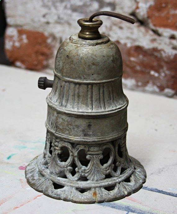 LAMP PART Cast Iron Heavy with Distressed by VintageSupplyCo