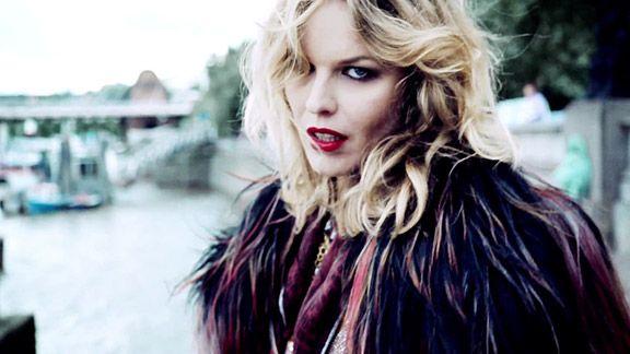 """Eva Herzigova in Duran Duran's """"Girl Panic"""" music video."""