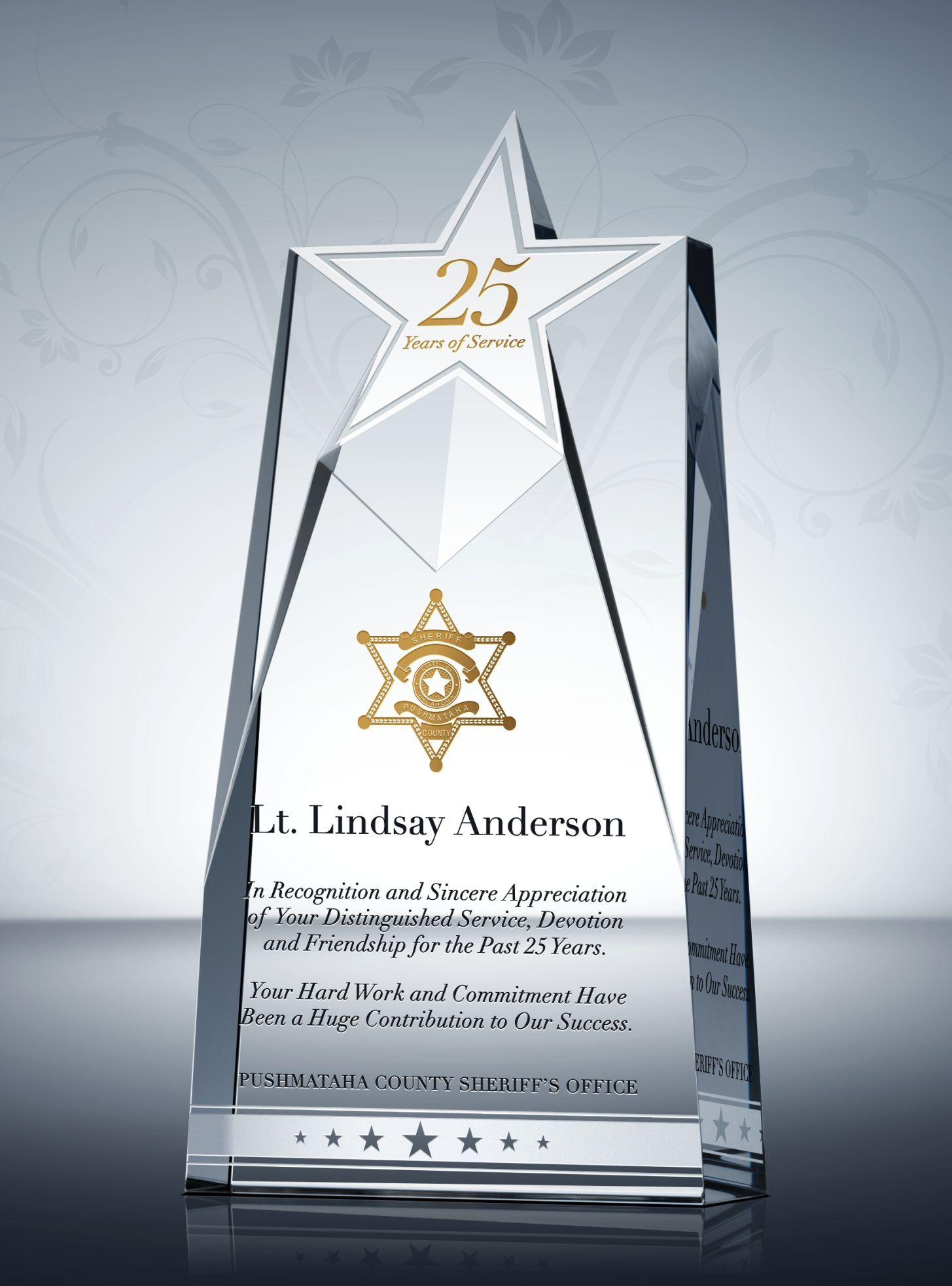 Unique Police Service Awards And Appreciation Quotes Service Awards Award Plaques Police