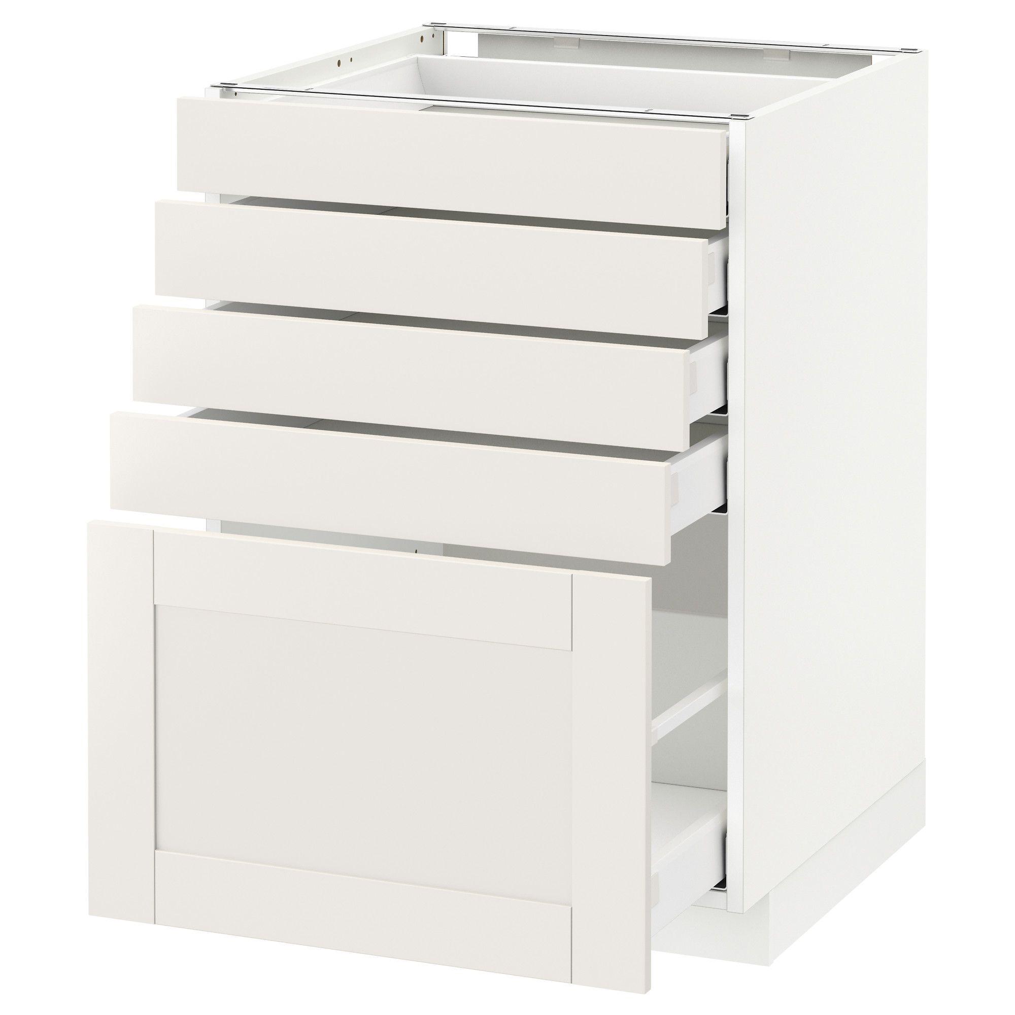 METOD / MAXIMERA, Unterschrank mit 5 Schubladen, weiß