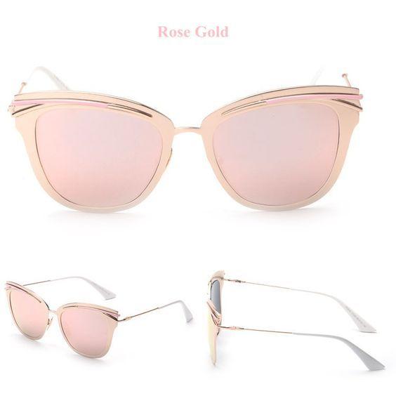 Miroir Yeux de chat d'été Mode, Rose Gold