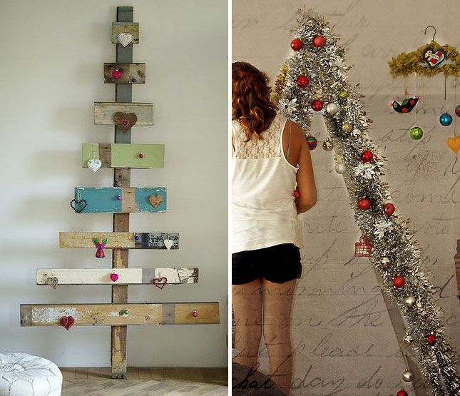 40 Ideas For a Non-Traditional Christmas Tree via Brit + Co.