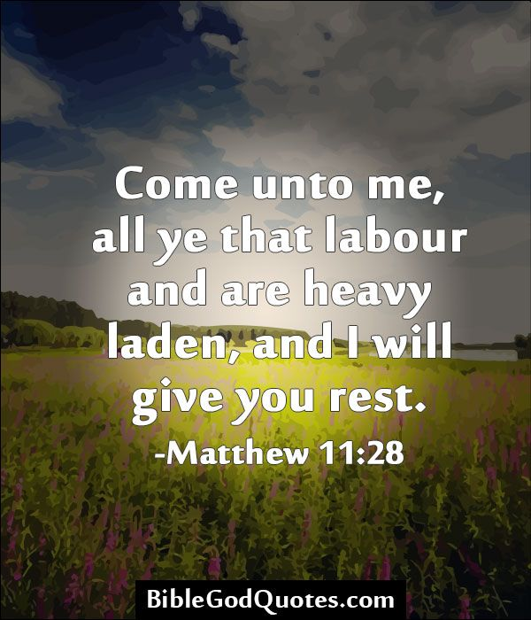 Will Heavy And You Me Are All Labor Come Who I And You Rest Laden Give 4