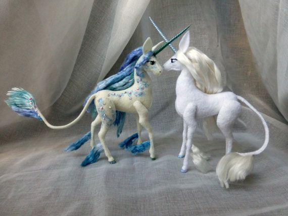 Reserved For Kait Last Unicorn Of The Sea Partial Payment Fantasy Art Dolls Cute Fantasy Creatures Felt Animals