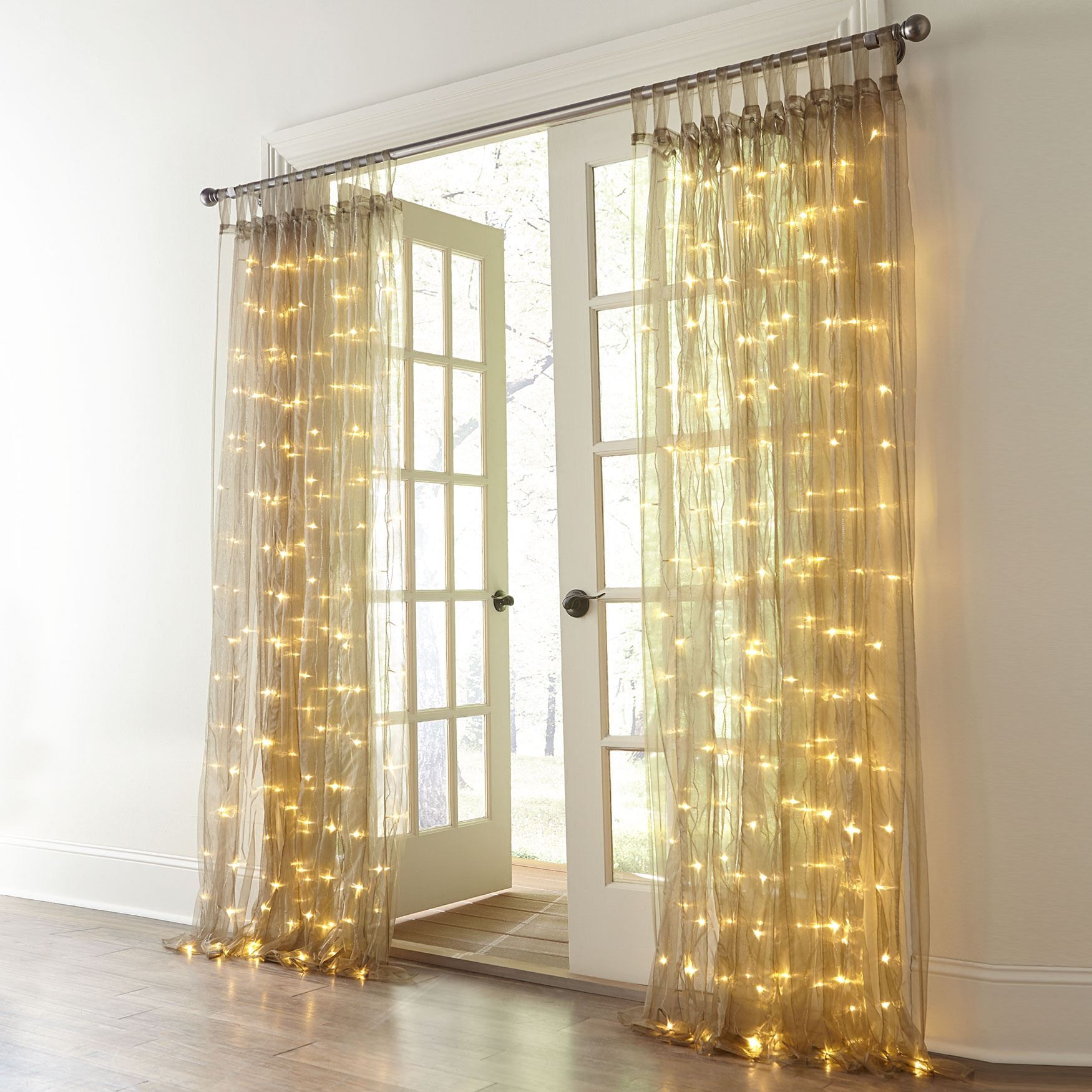 Illuminate Your Window With This Lighted Screen Curtain Just Plug