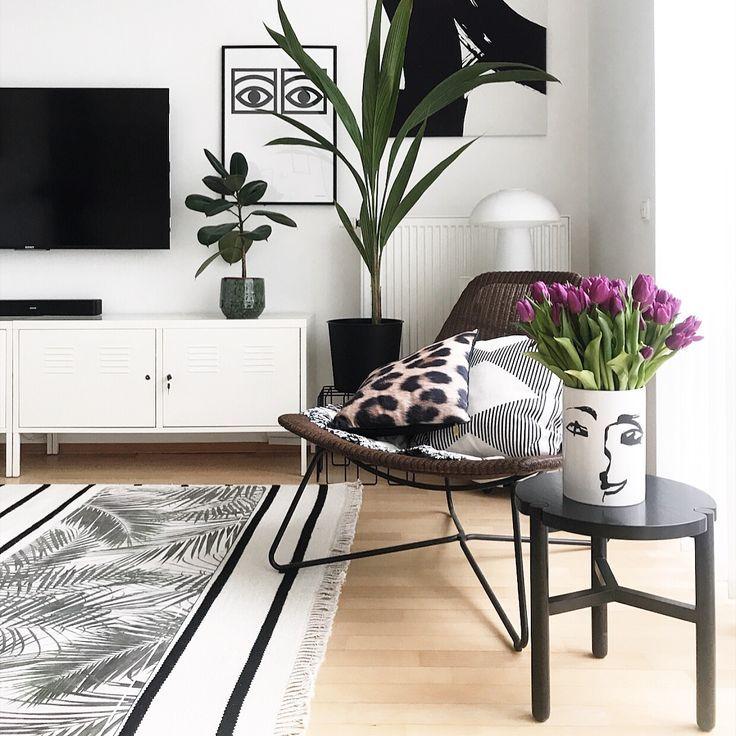 Inspirierend Wandfarbe Seidenglanzend Haus Interieur Ideen: Wohnzimmer Inspiration Und Tulpen In 2019