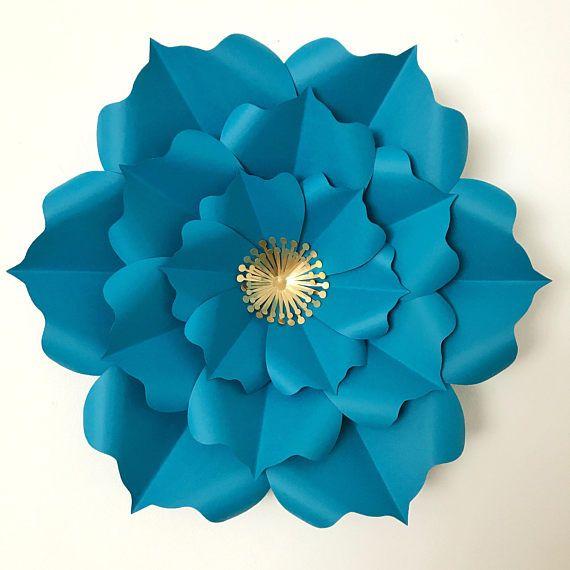 Paper Flowers -PDF Petal #6 Flower Template DIGITAL Version - The ...