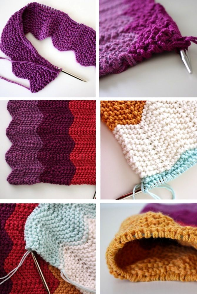 Celebrate BABY—the knitted chevron blanket. Done! | MADE - for ...