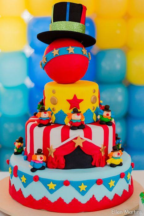 Festa Infantil Matheus Bolo Circo Decoracao Festa Circo