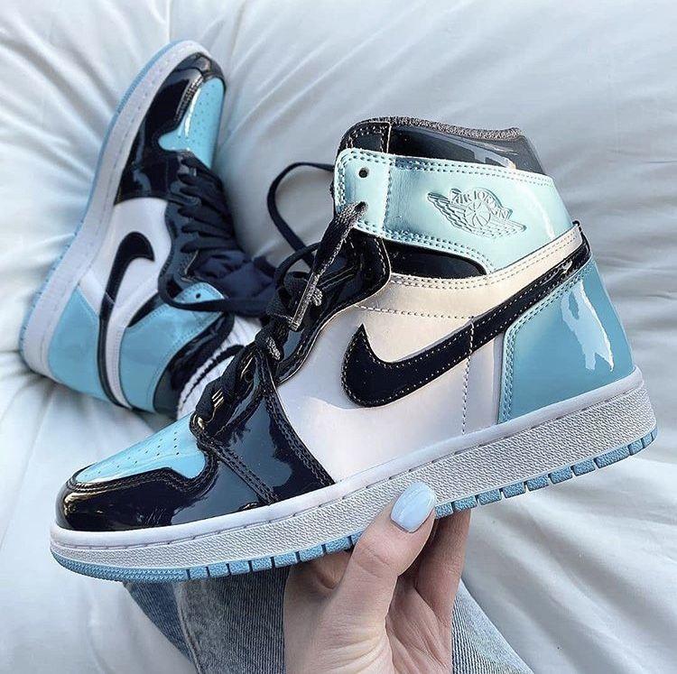 Shiny Blue Jordan S In 2020 Jordan Shoes Girls Hype Shoes