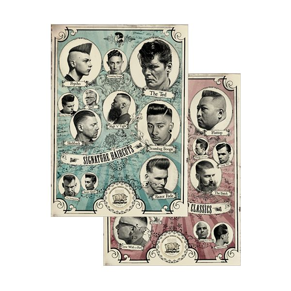 barber shop haircut poster the barbershop classics and the signature haircuts posters 3959