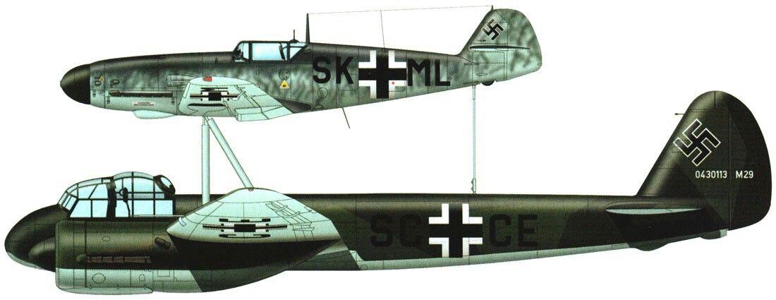 Mistel 1; Messerschmitt Bf 109K/ Junkers Ju 88