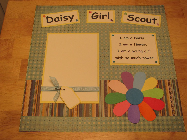 Girl scout scrapbook ideas - Daisy Girl Scout Scrapbook Idea