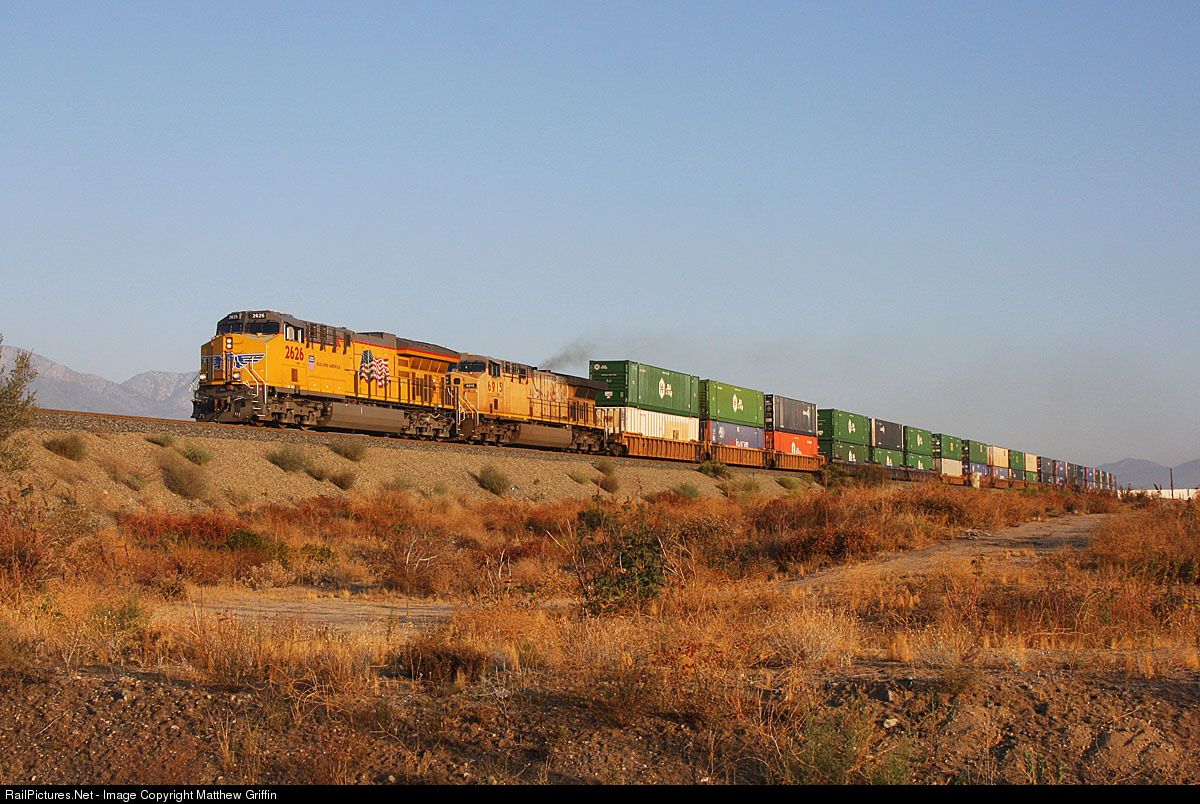 RailPictures.Net Photo: UP 2626 Union Pacific GE ET45AH at Dike, California by Matthew Griffin