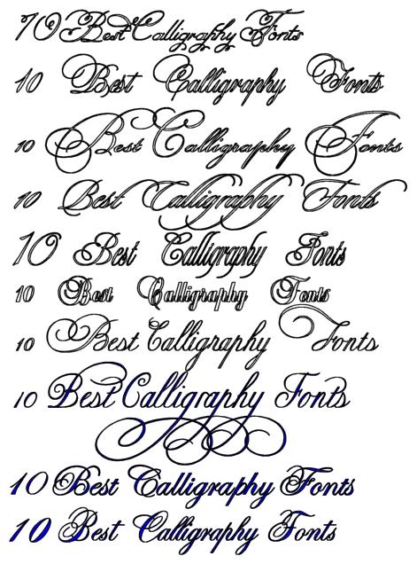 10 Best Calligraphy Fonts Tattoo Free Download Jockey | If I had a ...