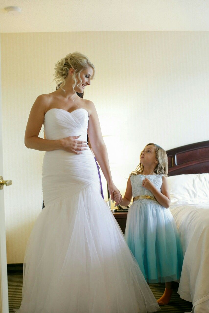 Girls wedding dress  My flower girl and I Wedding dress  Mori Lee   Wedding