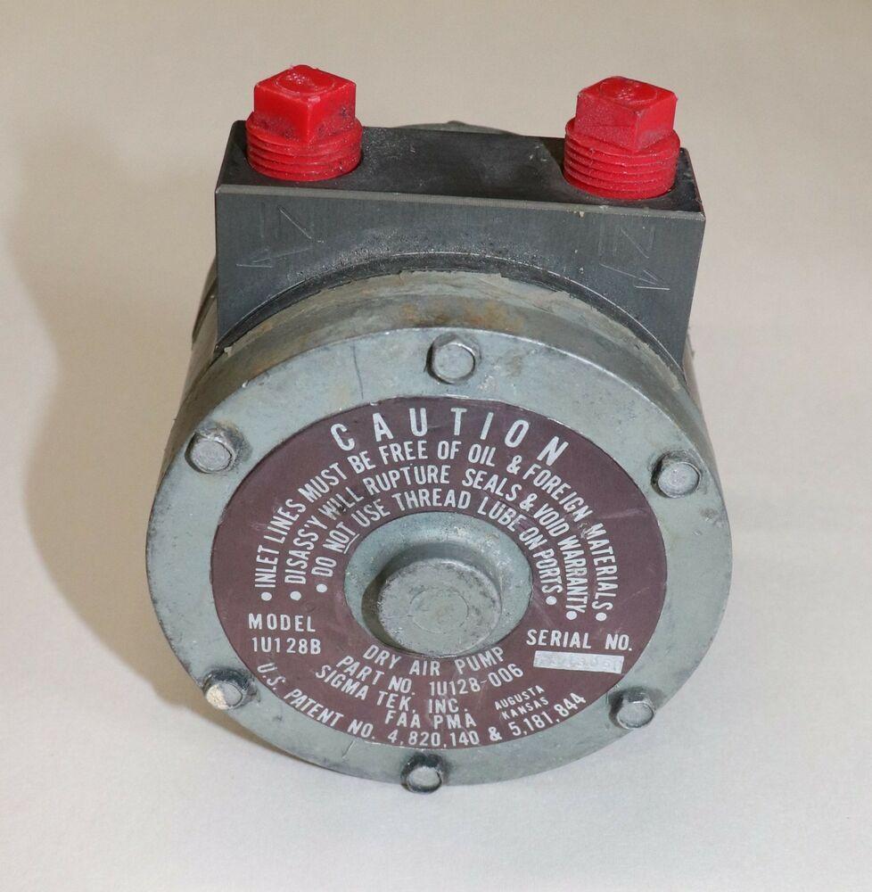 eBay #Sponsored 1U128-006 Sigma Tek Vacuum Pump Core