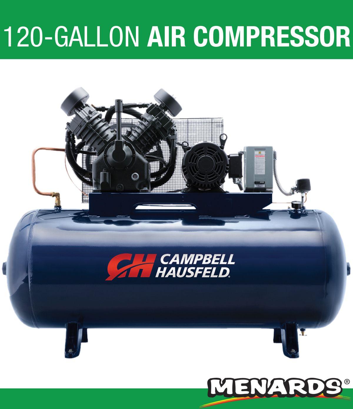 The Campbell Hausfeld® 120gallon, 10 hp, horizontal, two