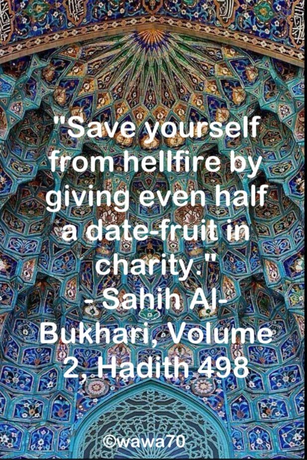 Hadith on charity