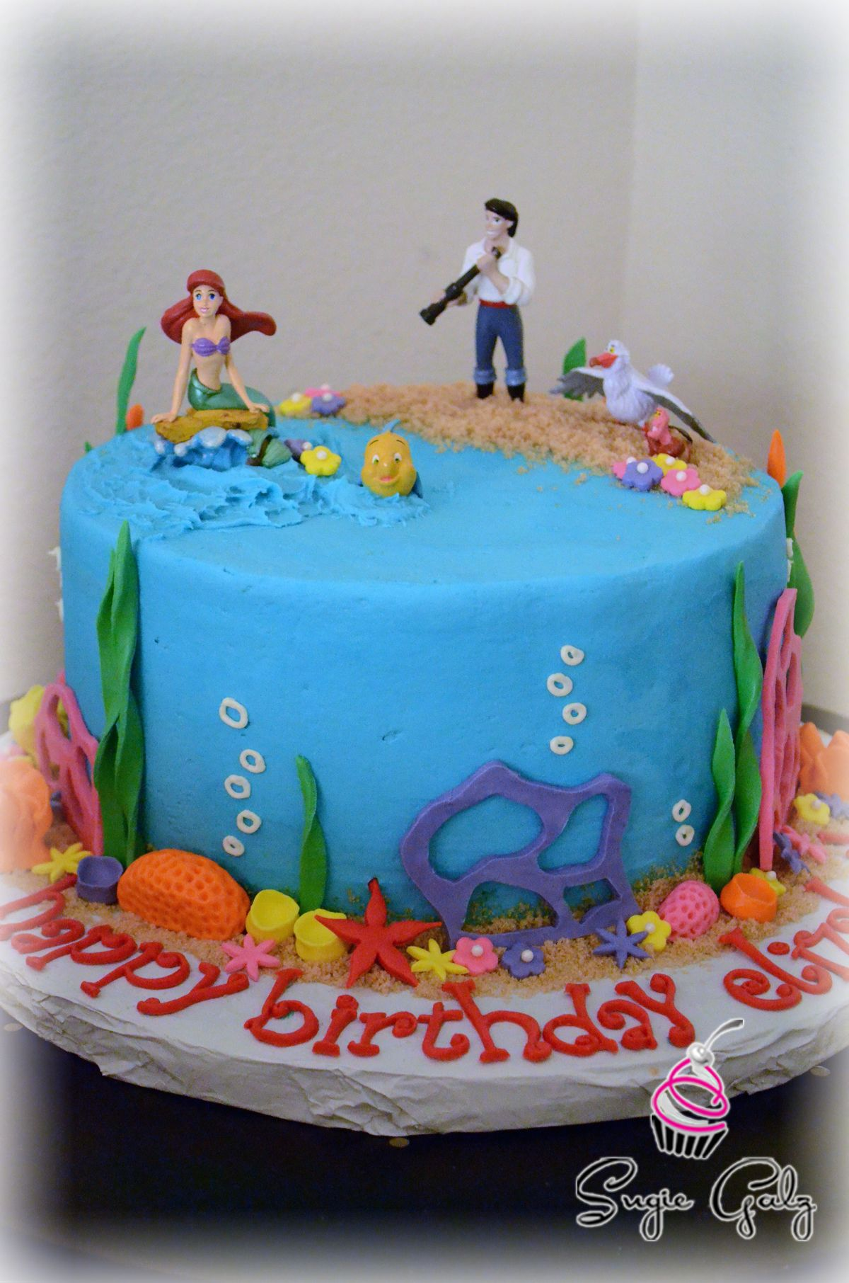 The Little Mermaid Birthday Cake In Austin Texas By SugieGalz
