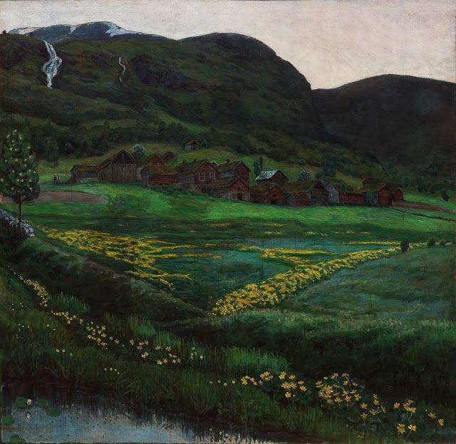 Nikolai Astrup (1880-1928), Klar juninatt - 1907