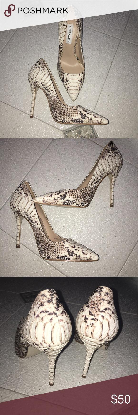 80c2370022c Steve Madden Shoes | Sexy Steve Madden Python Snakeskin High Heels ...