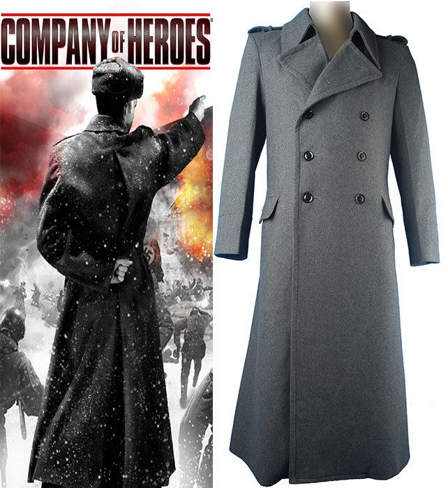 Company of Heroes 2 cosplay uniform trench coat Soviet Sniper ...