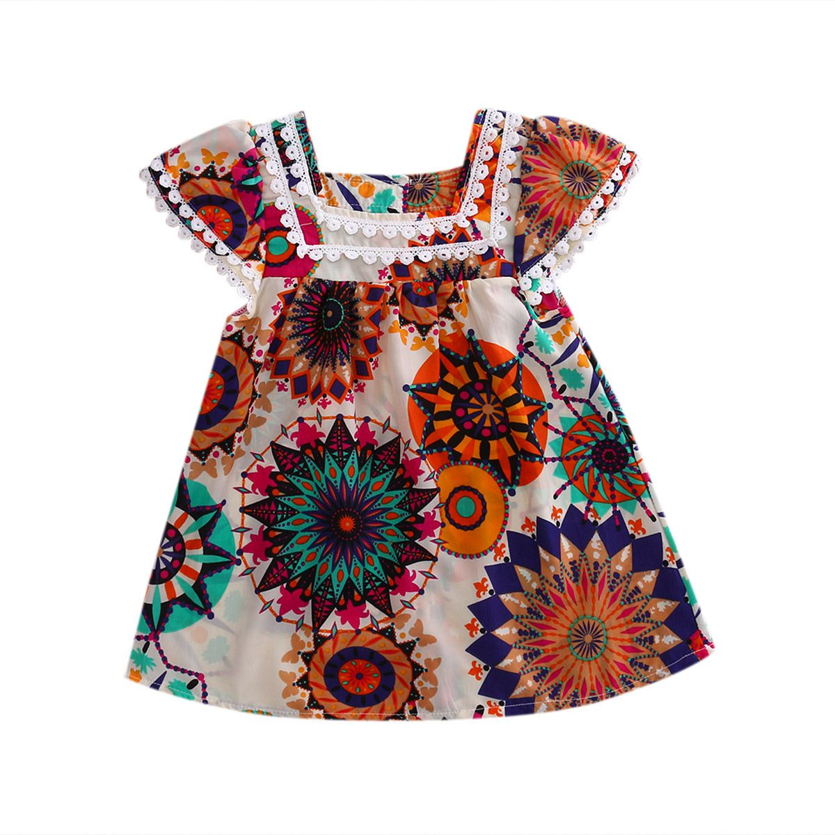 Click to buy ucuc girls strap casual short sleeve outfit party dresses