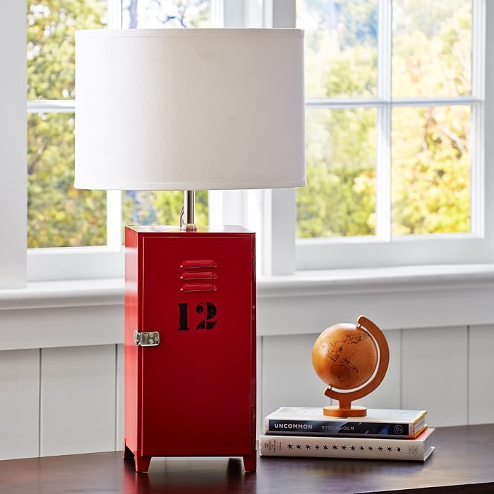 Find This Pin And More On Varsity Bedroom By Sheryl_weller. Locker Table  Lamp