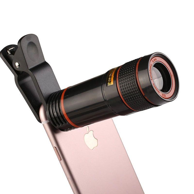 Mobile Phone 12x Telephoto Lens For Xiaomi Redmi 4x 5 Plus Note 5