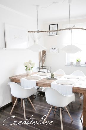 Scandinavian Dining Room Style With Wall Decoration Myfashionos Com In 2020 Trendy Living Rooms Farmhouse Dining Home Decor